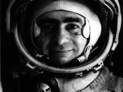 """A self-portrait by Joan Fontcuberta, in the guise of the cosmonaut Ivan Istochnikov, for his series """"Sputnik.'"""