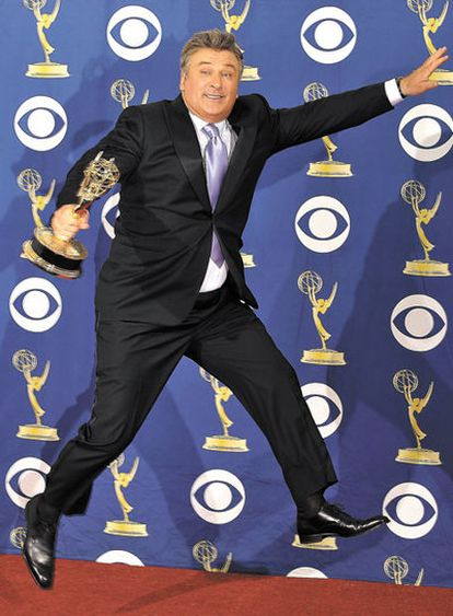 Alec Baldwin after receiving one of his three Golden Globes for '30 Rock.'