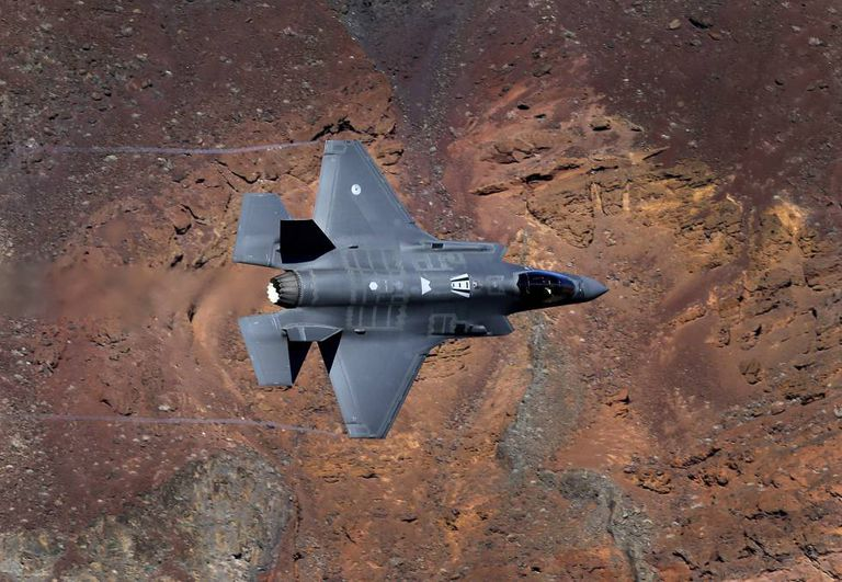 The F-35A Lightning II by Lockheed Martin.