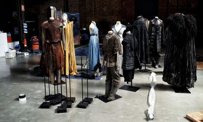 Some of the original costumes used by actors in the television series.