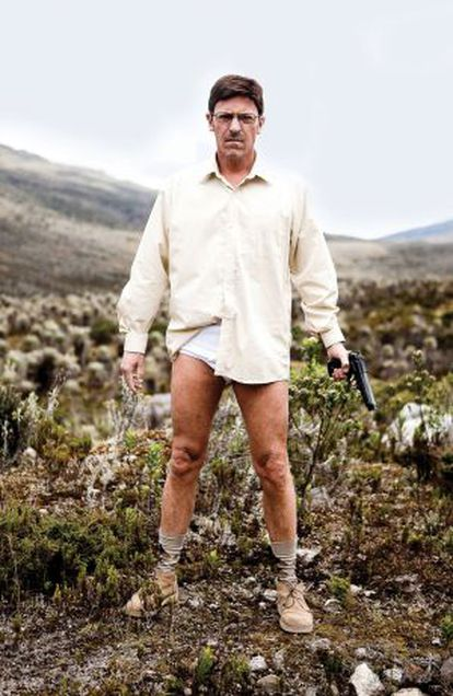 Even Walter White's unflattering underwear makes an appearance in the remake.