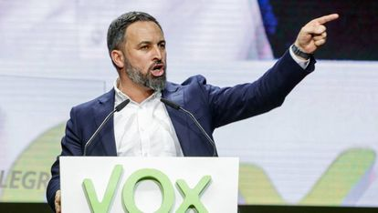 Vox leader Santiago Abascal, who has tested positive for the coronavirus.