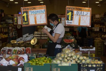 A Don Fruta store on Madrid's Alcala street.