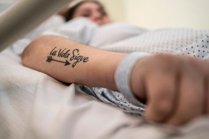 """Vanessa Martínez has a tattoo with the message """"Life goes on."""""""