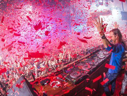 French DJ David Guetta at Pachá.