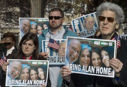 A 2013 protest in Washington to get Alan Gross released.
