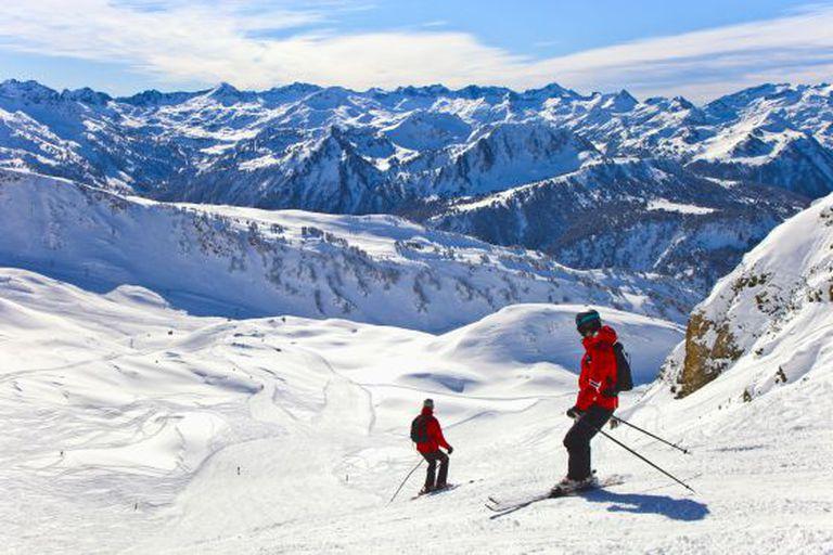 The slopes at Baqueira Beret.
