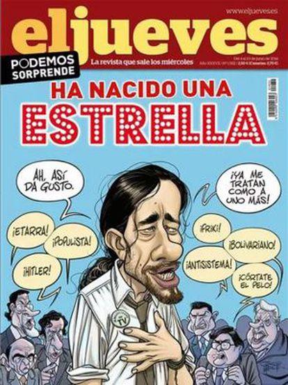 This week's 'El Jueves' cover showing Podemos leader Pablo Iglesias.