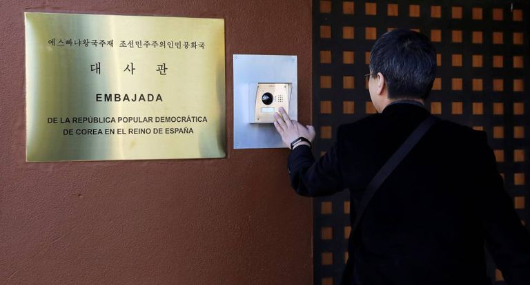 The North Korean embassy in Madrid.