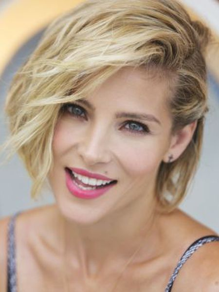 Spanish actress Elsa Pataky during the interview.