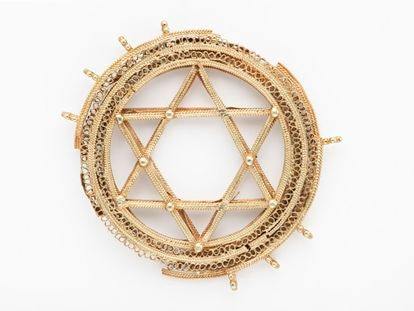 A gold Star of David from the 11th-century Amarguilla treasure.