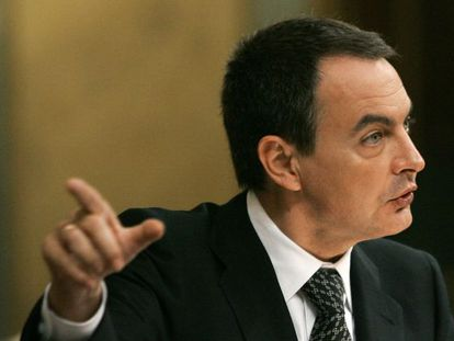Prime Minister Zapatero during the State of the Nation debate.