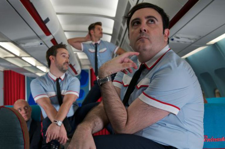 Carlos Areces (foreground), Javier Cámara (middle) and Raúl Arévalo (back) play a trio of camp flight attendants in I'm So Excited.