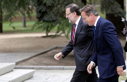 Spain's Mariano Rajoy and Britain's David Cameron in September 2015