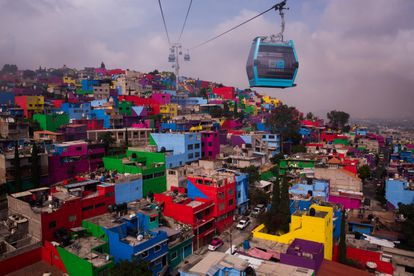 Line 2 of the cable car in Mexico City stretches 10.6 kilometers.