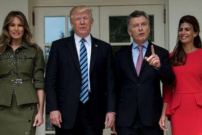 Melania and Donald Trump with Mauricio Macri and Juliana Awada.