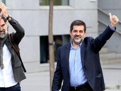 Jordi Cuixart and Jordi Sànchez in a file photo.
