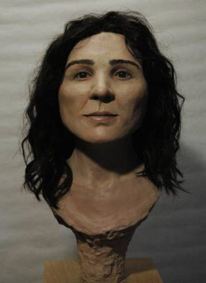 A 3D bust of what Elba might have looked like.