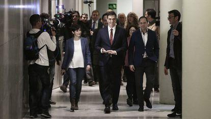 Sánchez acude a su primera rueda de prensa de este martes tras su reunión con el Rey.