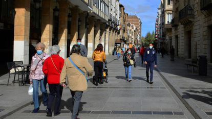 The city of Palencia, which has been confined due to the rising number of coronavirus cases.