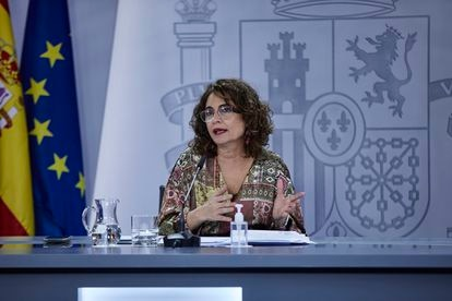 Finance Minister and government spokesperson María Jesús Montero on Tuesday.