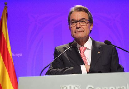 Regional premier Artur Mas, during his press conference on Tuesday.