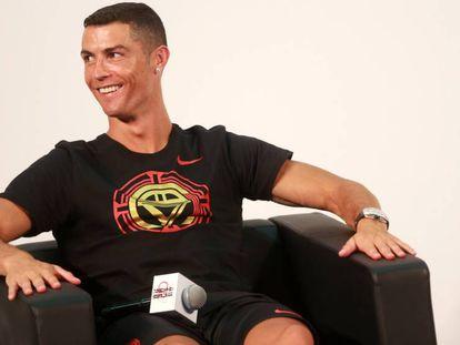 Cristiano Ronaldo in Beijing on July 19.