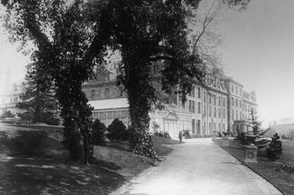 The Old Swan Hotel, where Agatha Christie hid away for 11 days in 1926, pictured in 1890.