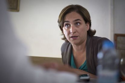 Ada Colau during her interview with EL PAÍS.