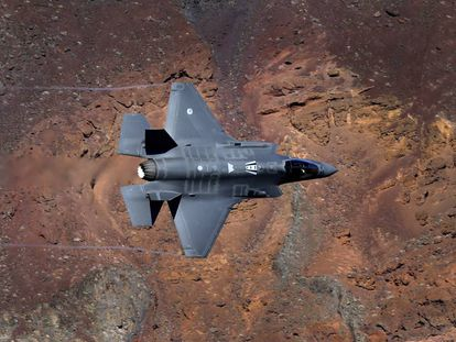 The F-35A Lightning II by Lockheed Martin.