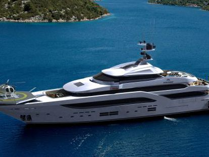 The largest luxury yacht made in Spain, the 46-meter Steel Amaranta by Astondoa.