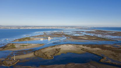 A view of the Mar Menor, Europe's largest saltwater lagoon, in February.