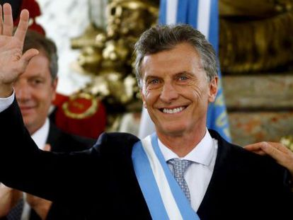 President Mauricio Macri of Argentina, after his swearing-in ceremony on Thursday at Casa Rosada.