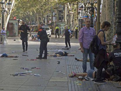 Fotografía de los atentados de La Rambla de Barcelona, ganadora del Premio Ortega y Gasset.