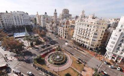 Valencia City Hall square.