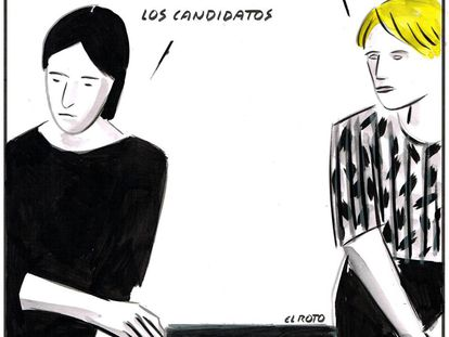 """"""" I want to vote and I can't."""" """" Who is stoping you?"""" """"The candidates."""""""
