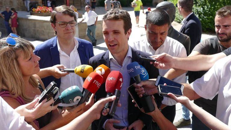 Popular Party leader Pablo Casado.