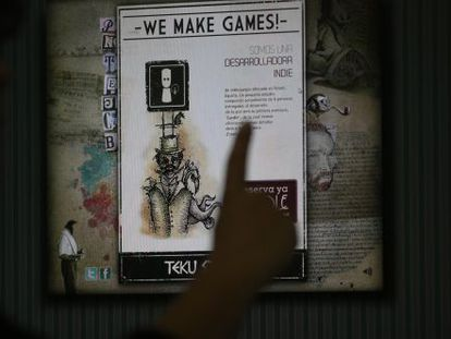 The webpage of Teku Studios, a videogame company based in Teruel.