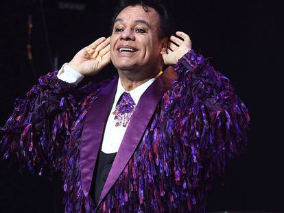 Juan Gabriel at a concert in L.A. in September 2014.