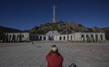 The Valley of the Fallen monument, where Franco is buried.