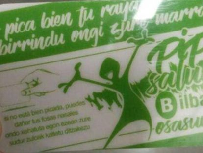 Drug users in Bilbao have been issued with plastic cards to chop their cocaine or speed.