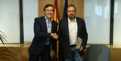 Rafael Hernando and Juan Carlos Girauta on Friday