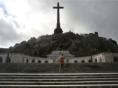 The cross atop the Valley of the Fallen monument.