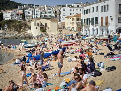 Calella beach in Palafrugell over the Easter break.