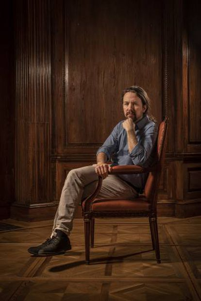 The leader of Podemos, Pablo Iglesias, whose political party is in favor of legalization.