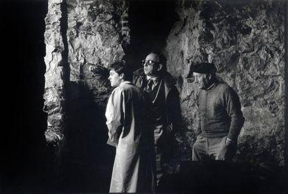Urteaga in 1986 during a visit to a local farmhouse.