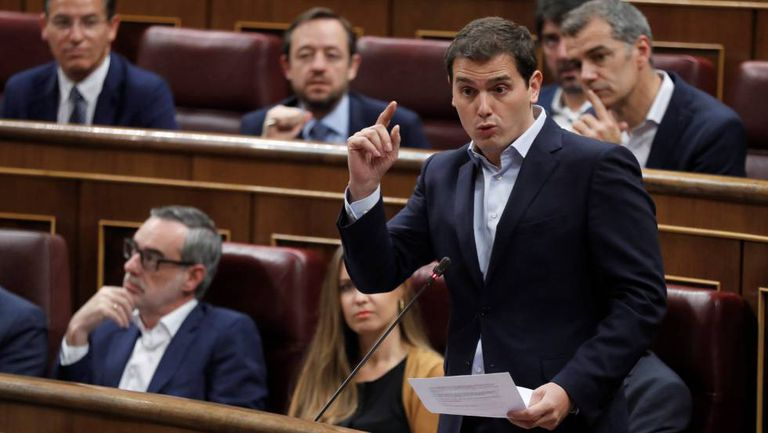 Ciudadanos leader Albert Rivera in Congress.
