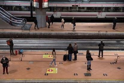 Atocha train station in Madrid.