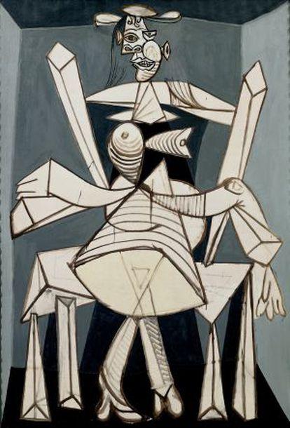 'Mujer sentada en un sillón (Dora)' (1938), part of the show 'Picasso Black and White.'
