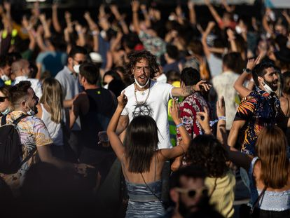 Festival-goers at the music festival Cruïlla in early July.